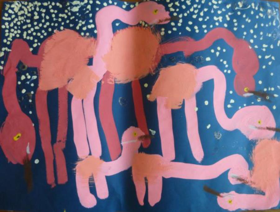 夜のフラミンゴ