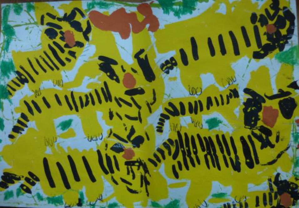 ジャングルのトラ