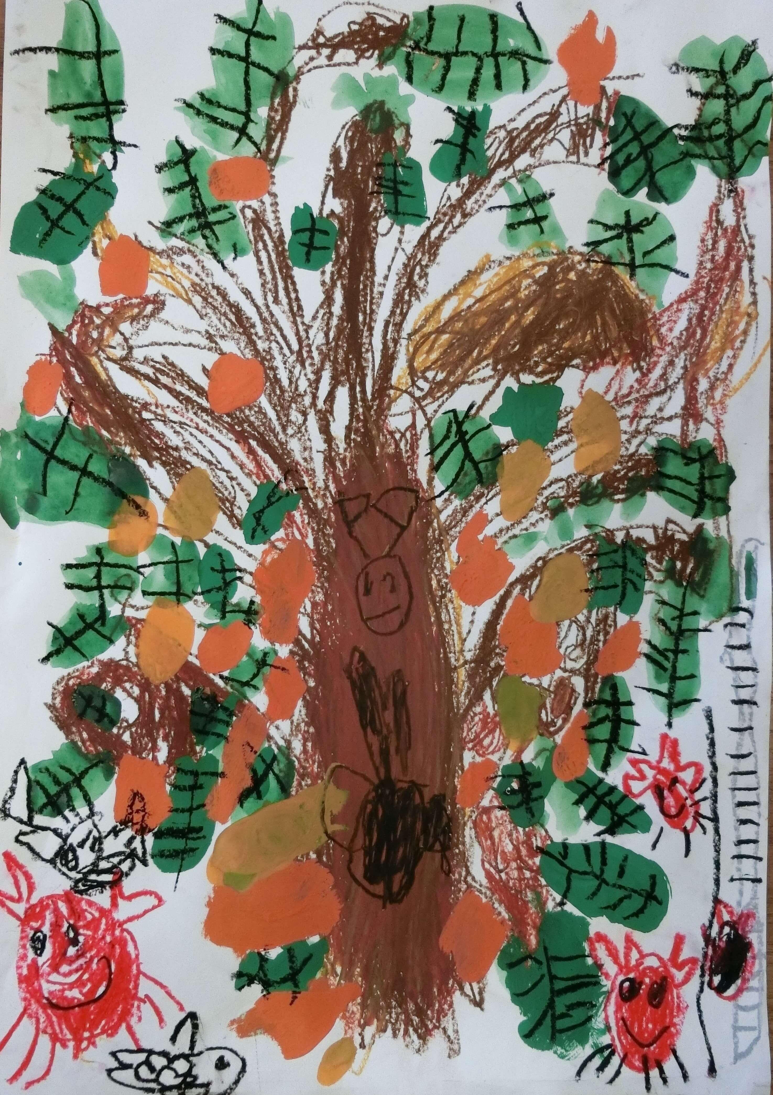 大きなビワの木