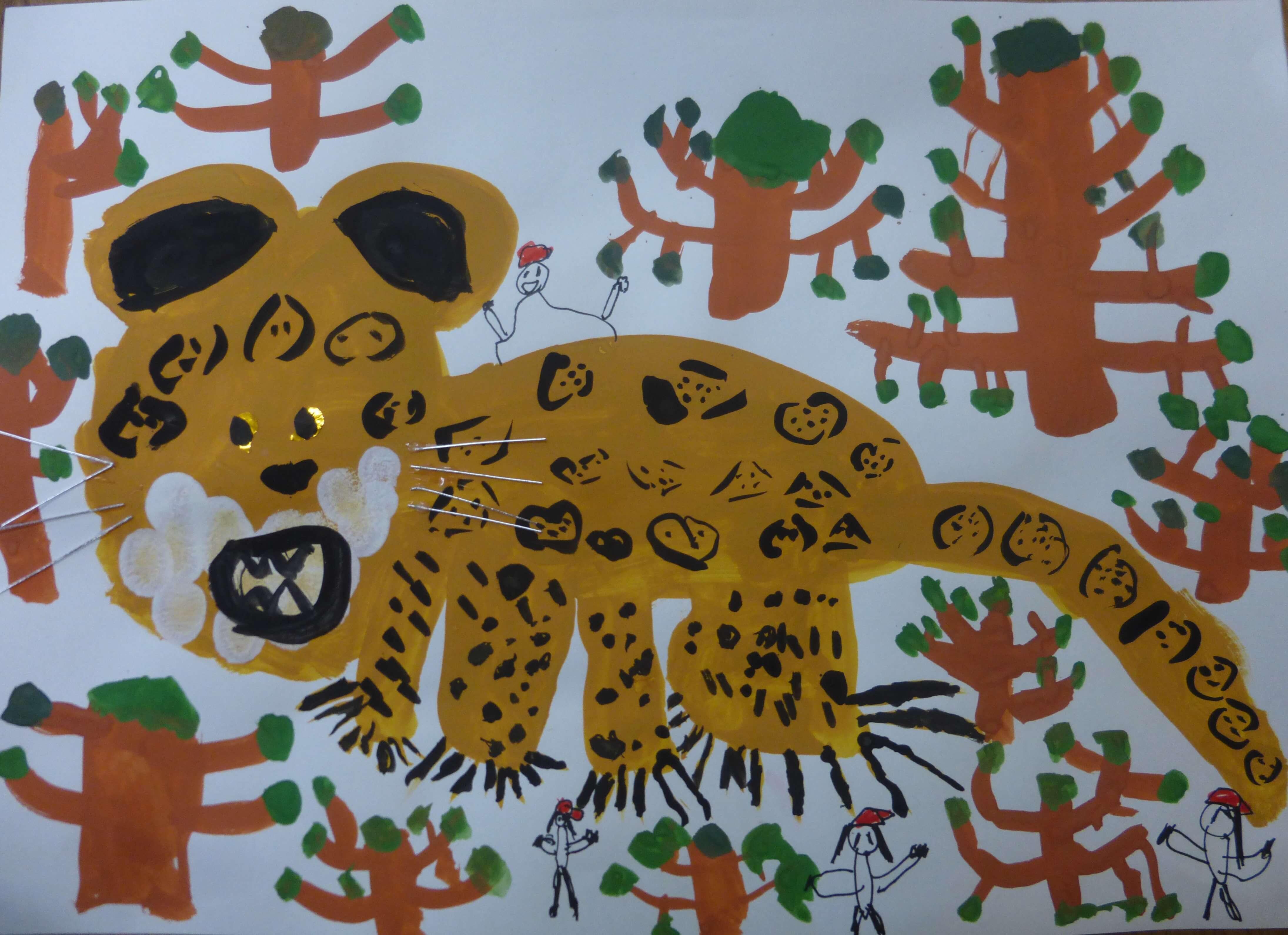 ジャングルでジャガーを発見