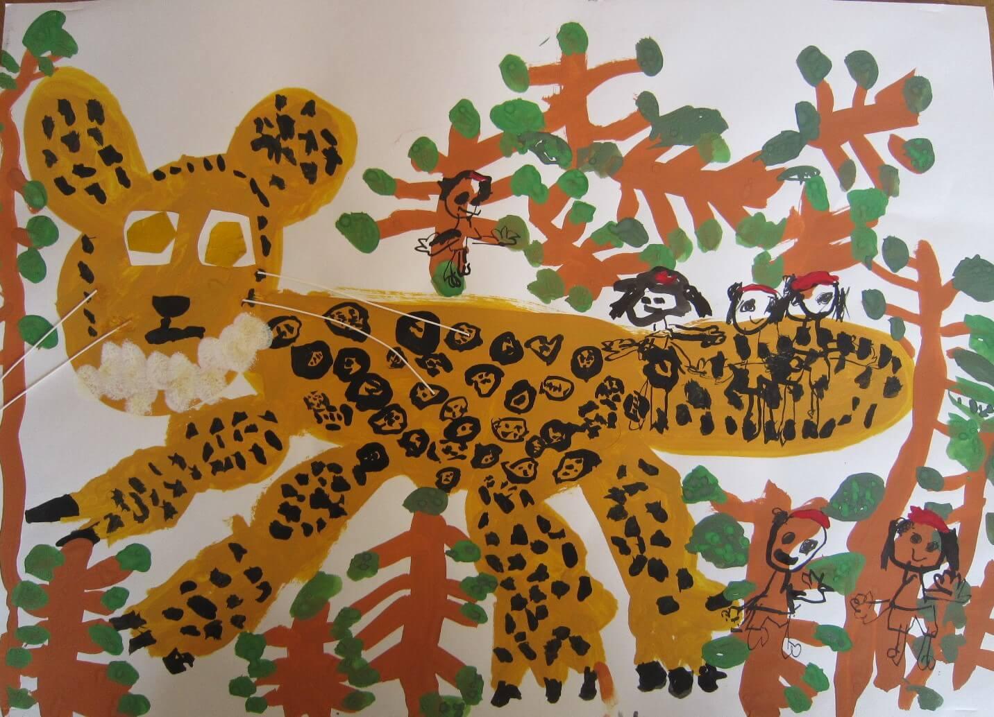 ジャングルでジャガーを見つけたよ