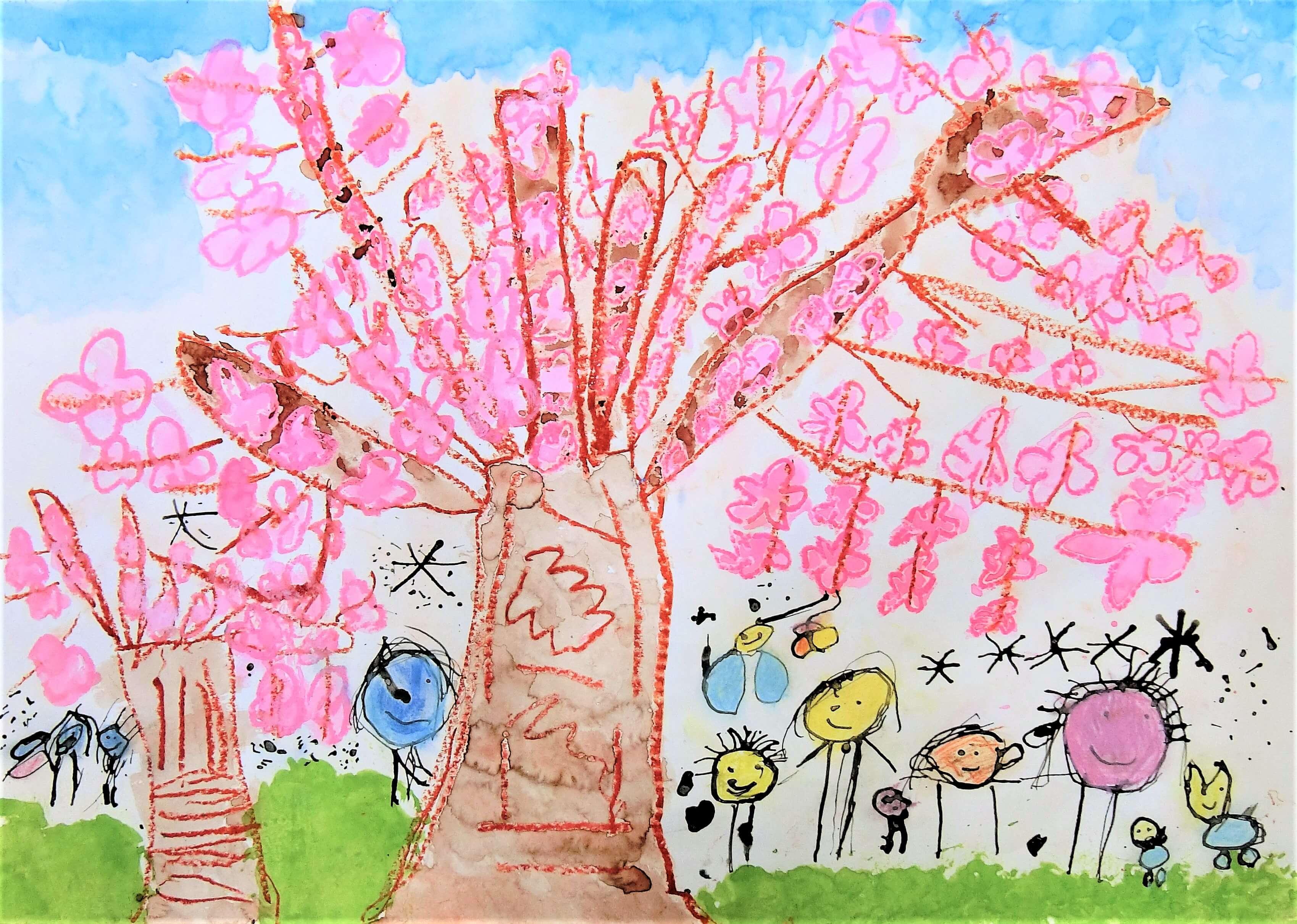 美しい桜の木