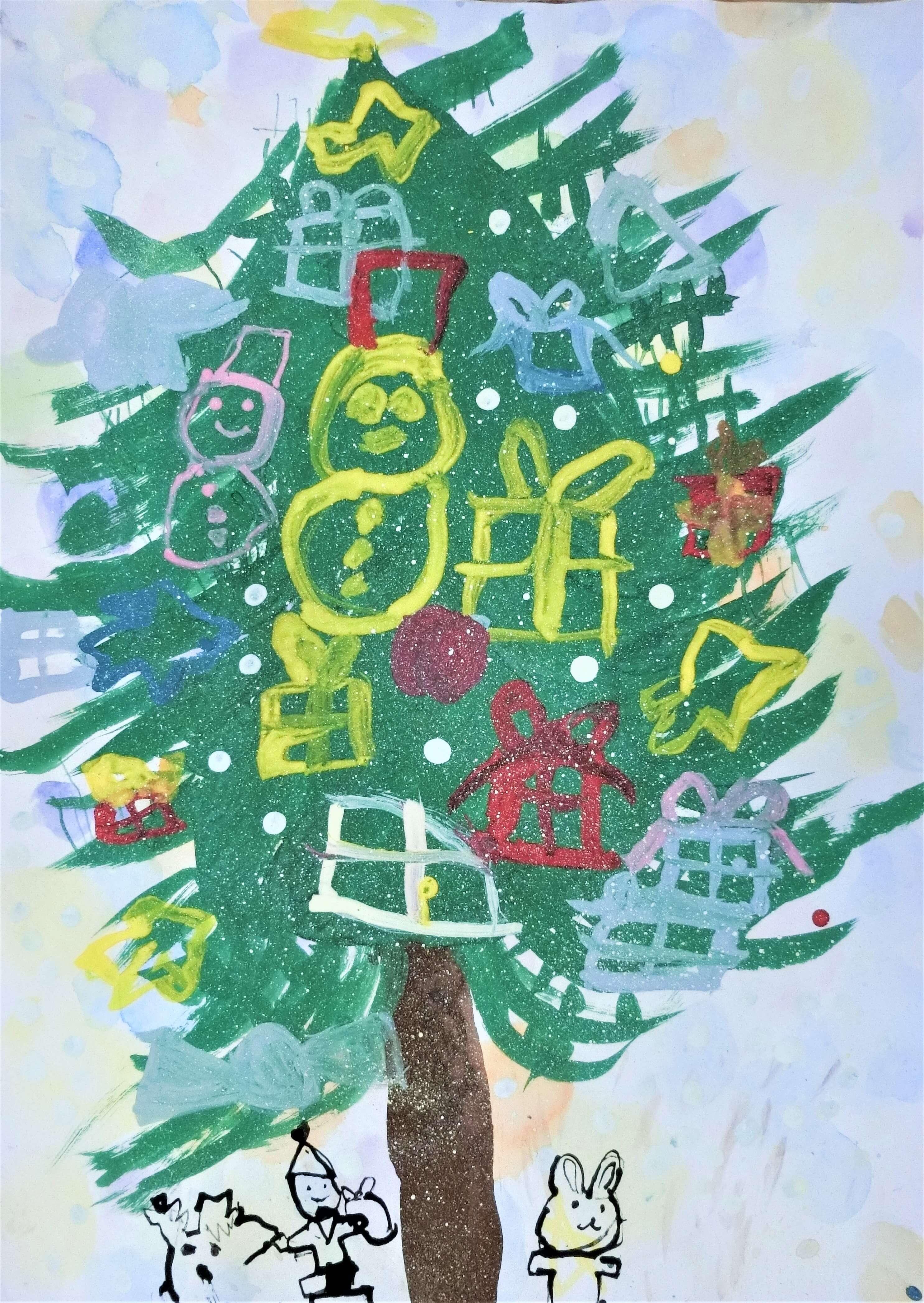 子うさぎましろのクリスマスツリー