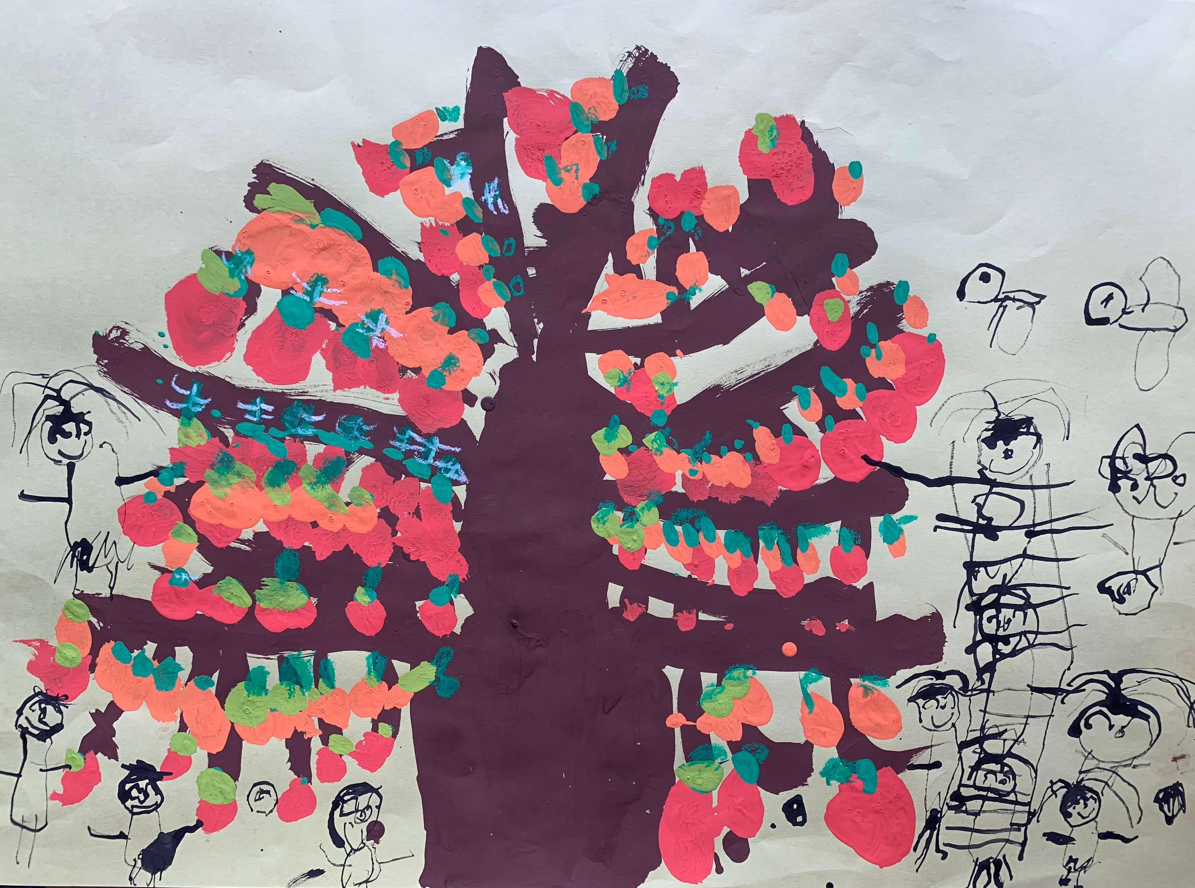 幼稚園の柿の木